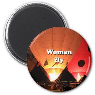 Imán Las mujeres vuelan: globo 2 del aire caliente