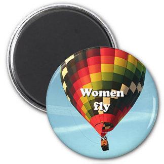 Imán Las mujeres vuelan: globo del aire caliente