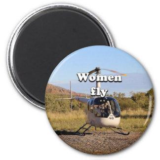 Imán Las mujeres vuelan: Helicóptero 2 (blancos)