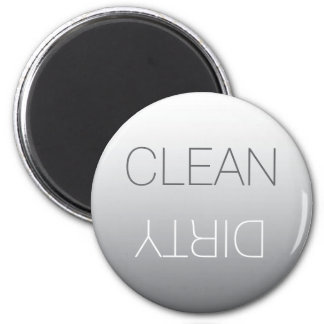Imán limpio del gris de acero o sucio redondo del
