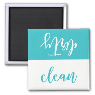 Imán limpio o sucio del lavaplatos (aguamarina y