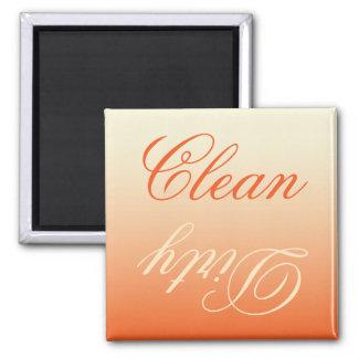 Imán limpio/sucio del lavaplatos poner crema