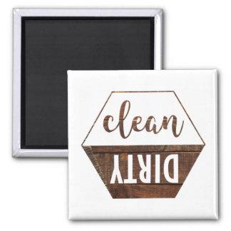 Imán limpio y sucio del lavaplatos
