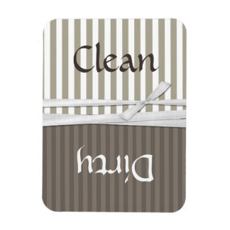 Imán limpio y sucio del lavaplatos rayado del