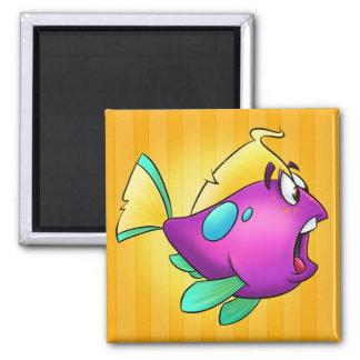 Imán lindo de los pescados del dibujo animado