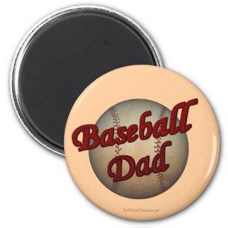 Imán lindo del papá del béisbol