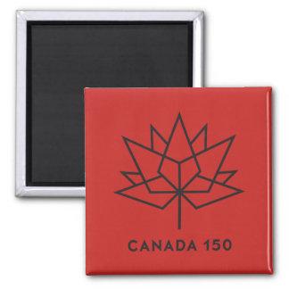 Imán Logotipo del funcionario de Canadá 150 - rojo y