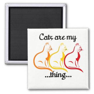 Imán Los Gatito-Gatos que se sientan agraciados son mi