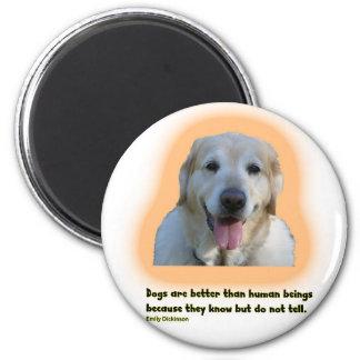 Imán Los perros son mejores que seres humanos