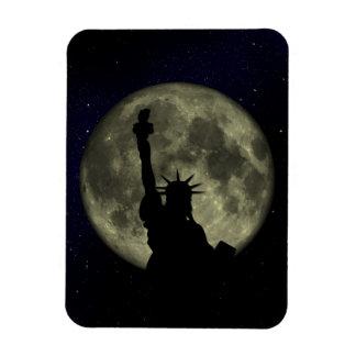 Imán Luna y señora Liberty