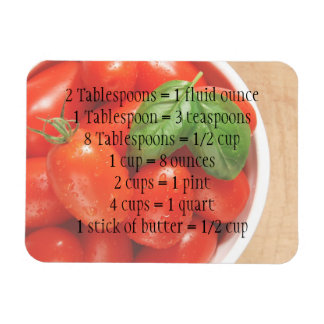 Imán maduro rojo de las medidas de los tomates