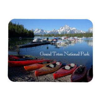 Imán magnífico del parque nacional de Teton