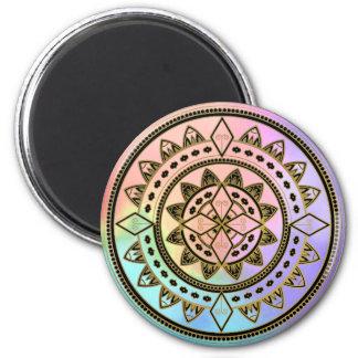 Imán Mandala Rosado-Azul-Aguamarina-Púrpura