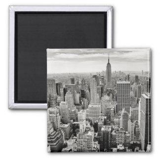 Imán Manhattan, Nueva York (panorama negro y blanco)