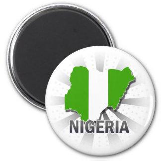 Imán Mapa 2,0 de la bandera de Nigeria