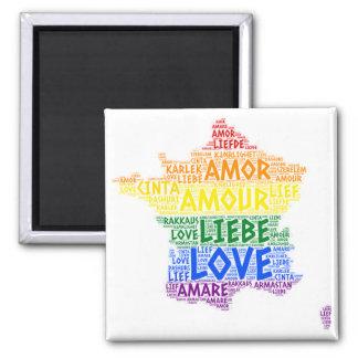 Imán Mapa de Francia del arco iris de LGBT ilustrado