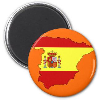 Imán Mapa de la bandera de España