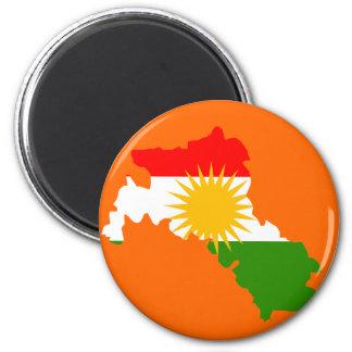 Imán Mapa de la bandera del Kurdistan