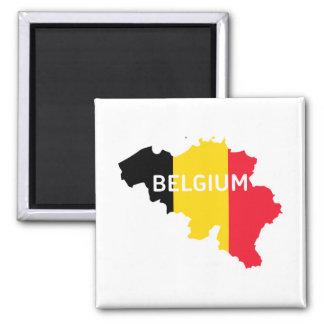 Imán Mapa y bandera de Bélgica