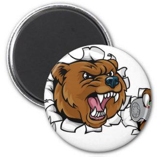 Imán Mascota enojada de Esports del oso