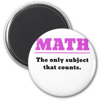 Imán Matemáticas el único tema que cuenta