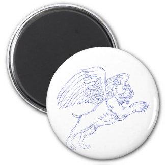 Imán Matón americano con el dibujo de las alas