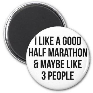 Imán Medio maratón y 3 personas