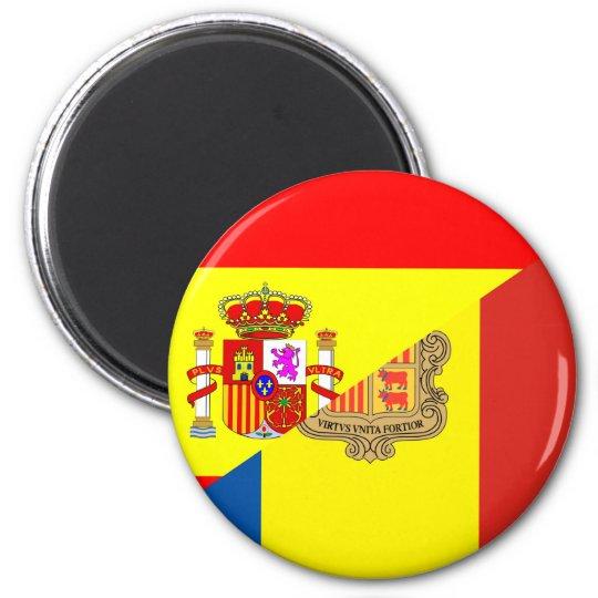 Imán medio símbolo del país de la bandera de España