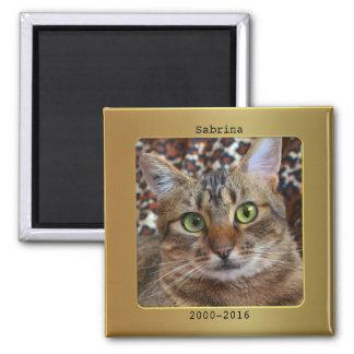 Imán metálico del monumento del gato del marco de