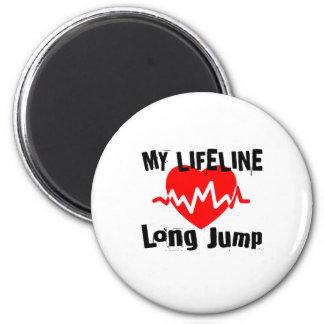 Imán Mi línea de vida salto de longitud se divierte