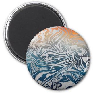 Imán Modelo líquido de plata abstracto