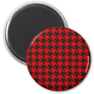 Imán Modelo rojo y negro de Houndstooth