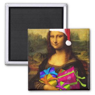 Imán Mona Lisa viene como Papá Noel