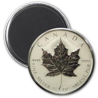 Imán Moneda de plata de Canadá 10oz
