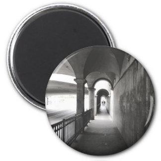 Imán monocromático decorativo de la fotografía