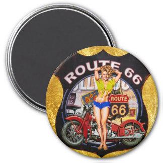 Imán Motocicleta de la ruta 66 de América con una