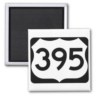 Imán Muestra de la ruta 395 de los E.E.U.U.
