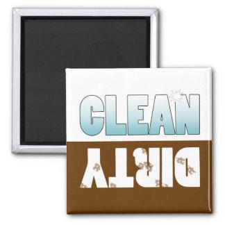Imán Muestra limpia o sucia del lavaplatos