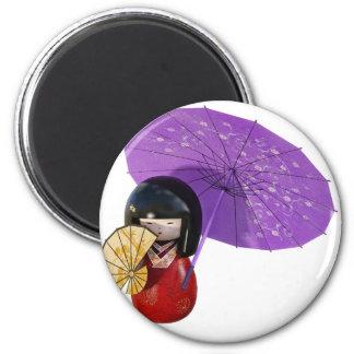 Imán Muñeca de Sakura con el paraguas