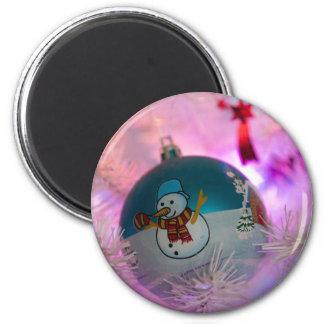 Imán Muñeco de nieve - bolas del navidad - Felices