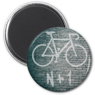 Imán N+1 pintada de la bici