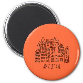 Imán Naranja holandés del recuerdo de la ciudad de