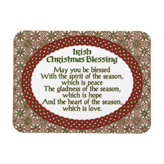 Iman Navidad irlandés que bendice, día de fiesta