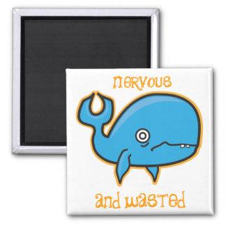 imán nervioso y perdido de la ballena