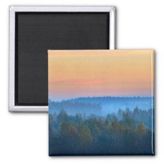 Imán Niebla sobre viaje de la salida del sol del bosque