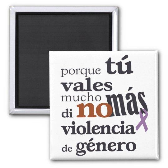Imán No Más Violencia de Género