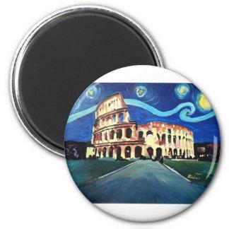 Imán Noche estrellada sobre Colloseum en Roma Italia