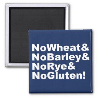 Imán ¡NoWheat&NoBarley&NoRye&NoGluten! (blanco)
