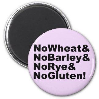 Imán ¡NoWheat&NoBarley&NoRye&NoGluten! (negro)