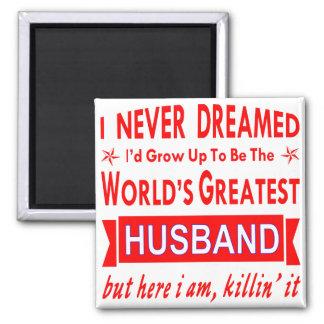 Imán Nunca soñado sería el marido más grande del mundo